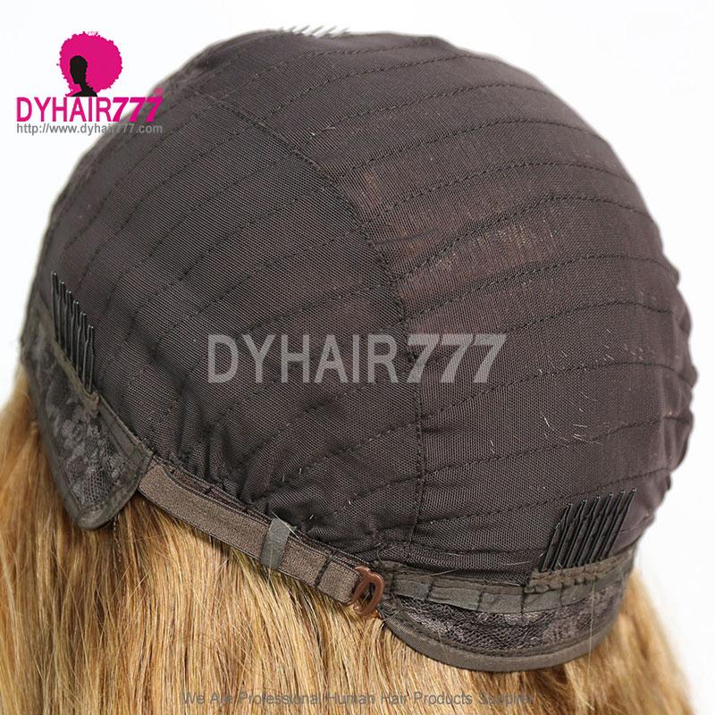 Closure Wig 180% Density Color 6 Lace Wig Straight Hair 100% Virgin Human Hair