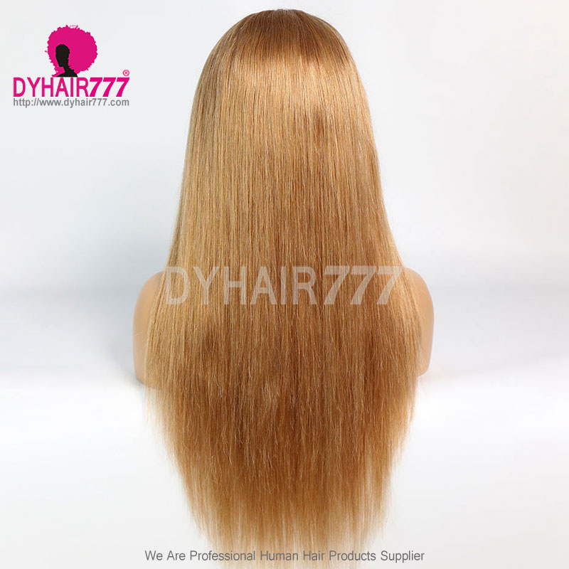 Closure Wig 180% Density Color 10 Lace Wig Straight Hair 100% Virgin Human Hair