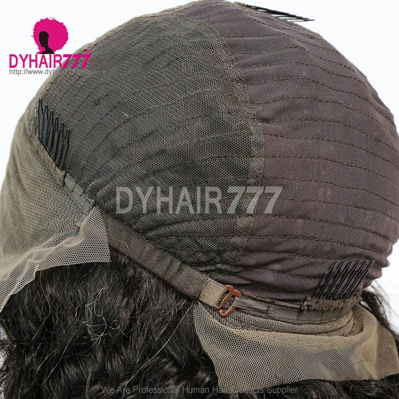6 inch Parting Space 180% Density Lace Front Bob Wigs Deep Wave Virgin Human Hair
