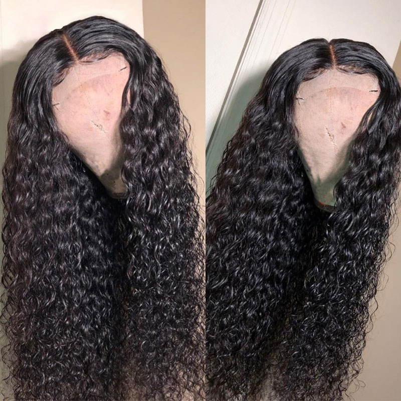 180% density Top Quality Virgin Human Hair Deep Curly Full Lace Wigs