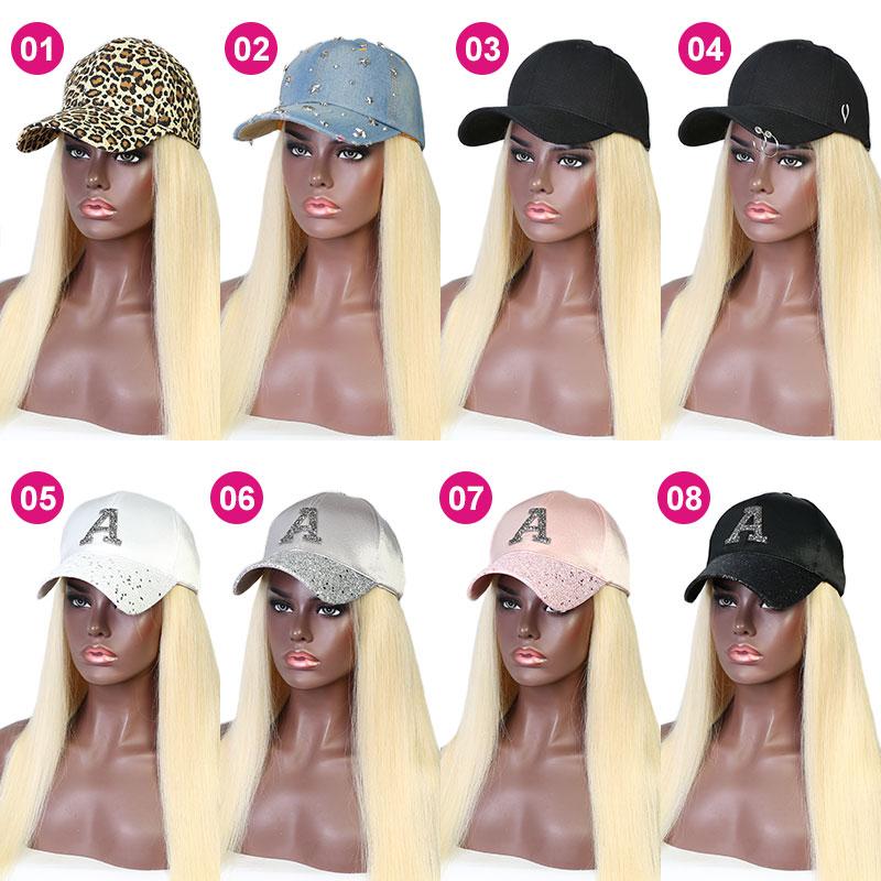 613 Blonde Color Cap Hair Extension Hat Wig 100% Virgin Human Hair Top Quality