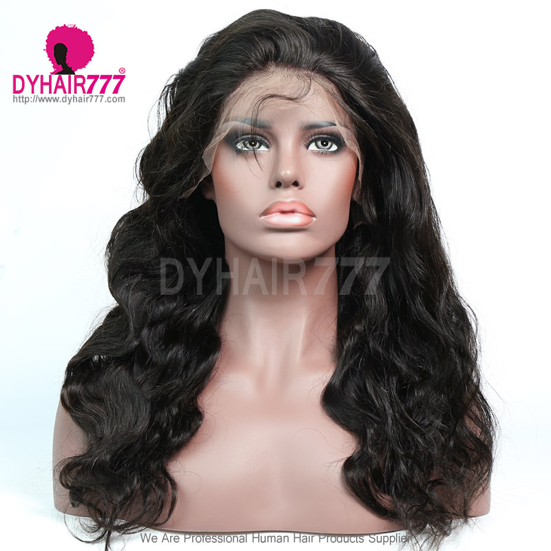 180% density Top Quality Virgin Human Hair Body Wave Lace Front Wigs