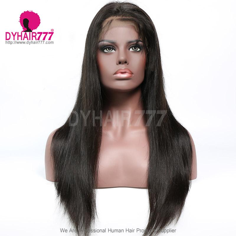 360 Lace Wig 180% Density Virgin Human Hair Straight Hair Pre Plucked