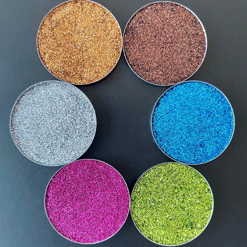 1 Piece Cocoa Pressed Glitter Shades No Glue Require For Girls (send color by random if without note )