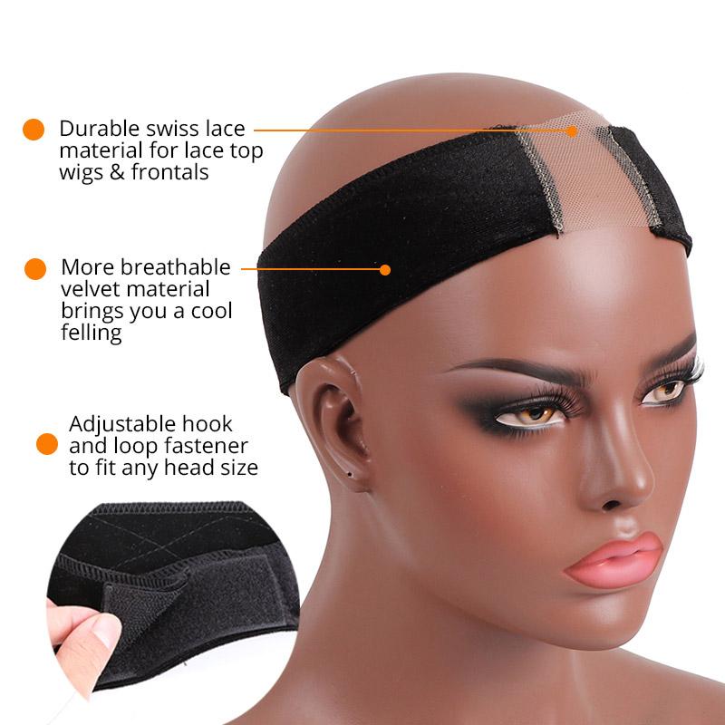Wig Grip Velvet Headband Elastic Non Slip Adjustable Hair Styling Tools