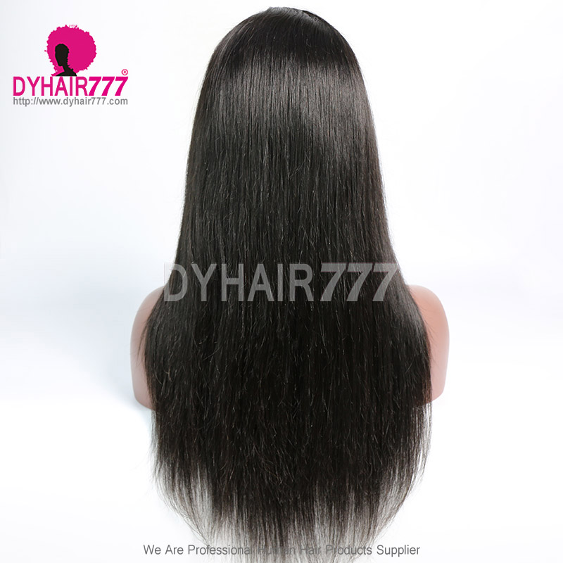 HD Lace 5X5 Closure Wig 180% Density Human hair With Baby Hair Slightly Pre Plucked Natural Color