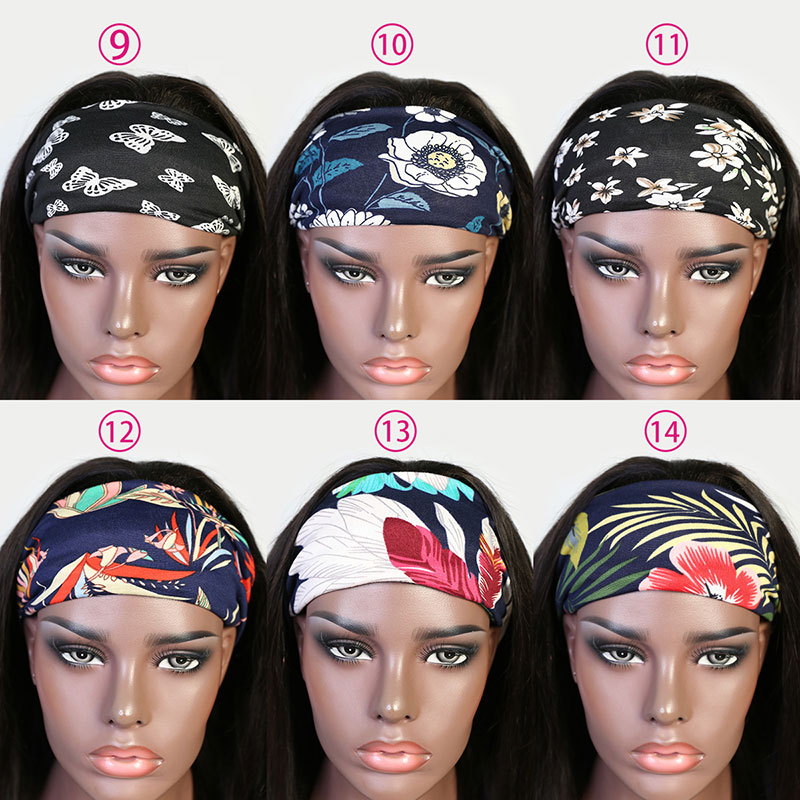 130% Density Headband Scarf Wigs Human Hair Wigs 100% Human Hair (Not Have Lace)