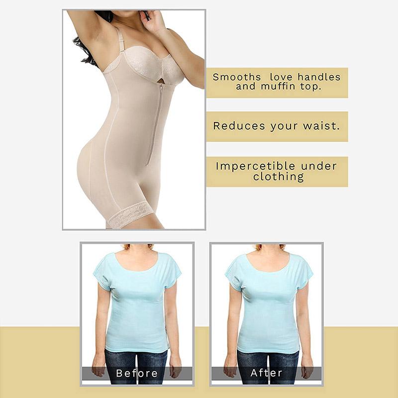 Women Body Shaper Cculpting Zip Bodysuit Vest Waist Shaper Shapewear Butt Lifter Tummy Enhancing
