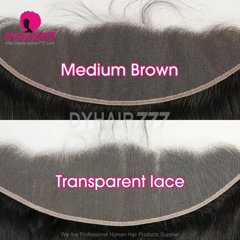 Ear to Ear 13*4 Lace Frontal Closure Virgin Human Hair Deep Wave Natural Color