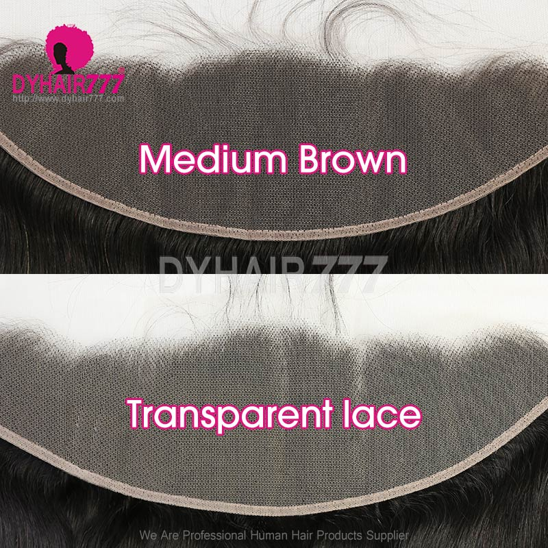 Ear to Ear 13*4Lace Frontal Closure Human Virgin Hair Italian Curly Natural Color