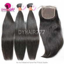Best MatchTop Lace Closure With 3or4 Bundles Royal Burmese Virgin Hair Extension Straight Hair