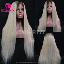 Full Lace Wig 180% Density Human Hair Natural Color Customize Wig 7 Working Days Ready STGB42-F