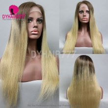 Full Lace Wig 200% Density Human Hair Customize Wig 7 Working Days Ready TZST7-F