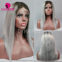 Full Lace Wig 130% Density Human Hair Customize Wig 7 Working Days Ready CSTG34-F