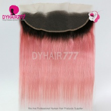 1B/Pink Frontal 13*4 Lace Frontal Closure Straight Hair Virgin Human Hair