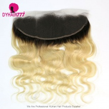 Color 1B/613 Blonde Frontal 13*4 Lace Frontal Closure Body Wave Virgin Human Hair