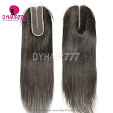 Size 2x6 Lace Top Closure Straight Hair Human Virgin Hair Middle Part
