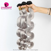 3 Bundles Two Tone Color 1b/silver Body Wave Hair 7 Business Days Ready