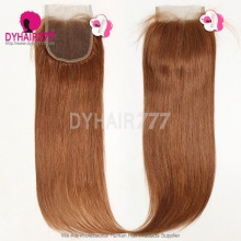 Color 30 Lace Top Closure (4*4) Straight Hair Human Virgin Hair