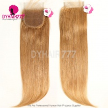 Color 10 Lace Top Closure (4*4) Straight Hair Human Virgin Hair