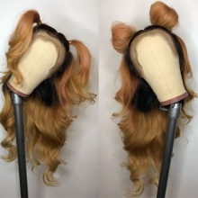 Stylist Wig As Picture 7Days to Ready 100% Virgin Human Hair Wavy Ombre Color