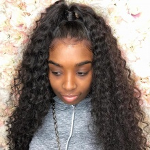 180% density Top Quality Virgin Human Hair Italian Curly Full Lace Wigs