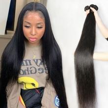 3or4pcs/lot Bundle Deals Wholesale Peruvian Standard Virgin Straight 100% Human Hair Extension