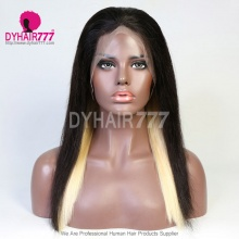 Hidden Glam Color Lace Frontal Wigs 180% Density Straight Hair Virgin Human Hair