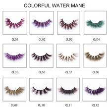 1 Pair Colorful Mink Eyelashes (12 models can be selected)