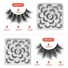 10 Pair/box Imitation Mink Eyelashes 3D-V21