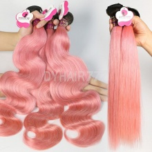 1B/Pink Ombre Color Royal Body Wave Straight Virgin Human hair Extension 1 Bundle